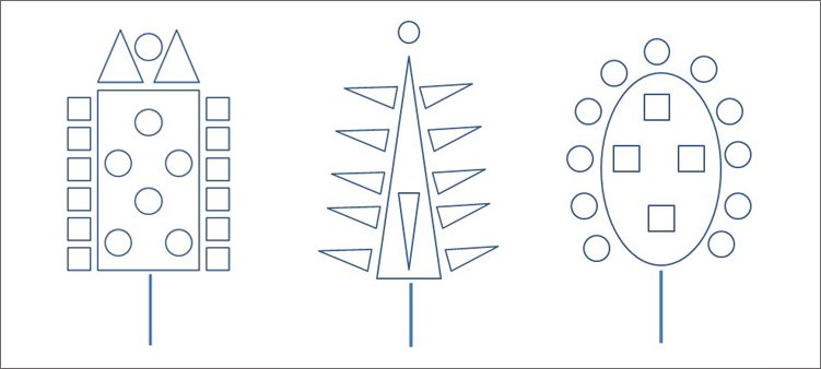 нарисованые-деревья-из-геометрических-фигур