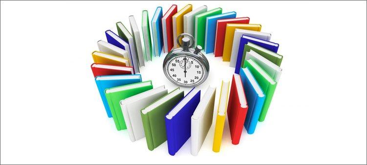 книги-стоят-вокруг-секундомера