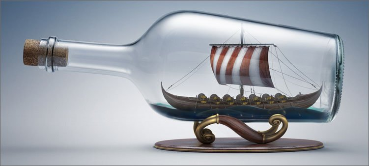 парусник-в-бутылке