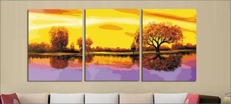 картина-триптих-золотая-осень