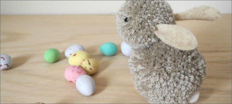 кролик-из-помпонов