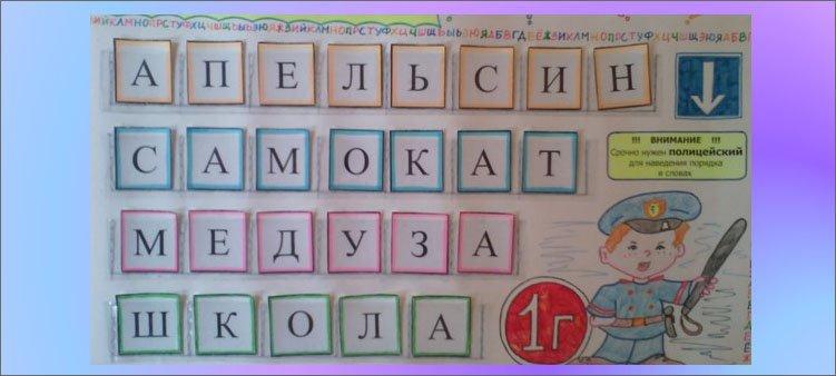 слова-в-кармашках-на-плакате-по-русскому-языку