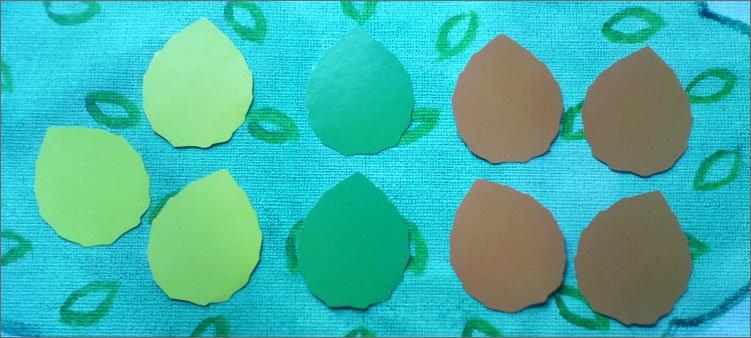 цветные-листья-вырезанные-из-картона