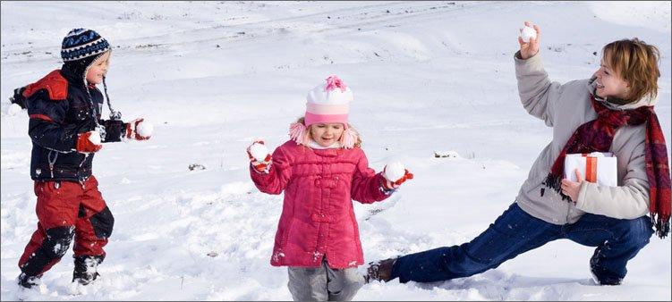 игра-в-снежки