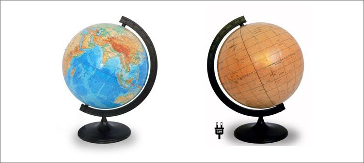глобус-земли-и-глобус-марса