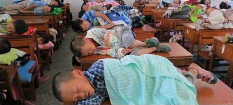 дети-спят-на-партах-в-китайской-школе