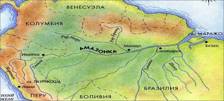 река-амазонка-на-карте