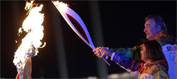 зажжение-олимпийского-огня-в-сочи