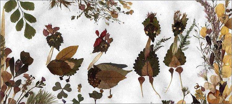 творческая-работа-из-листьев