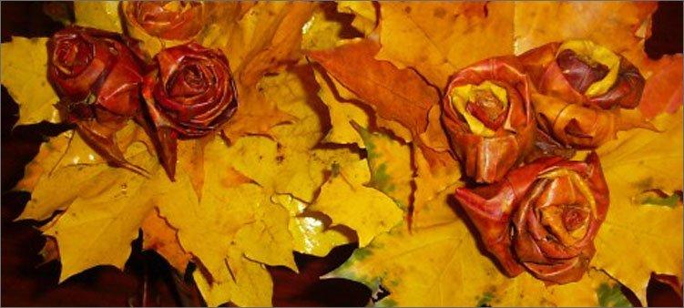 розы-из-желтых-листьев