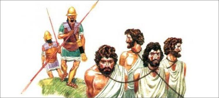 стражники-ведут-рабов