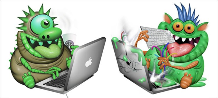 два-зеленых-вируса-пожирают-компьютеры