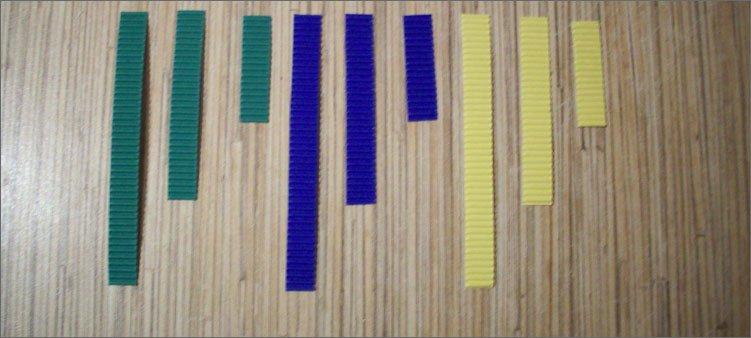 цветные-полоски-из-картона-разного-размера