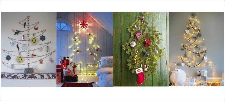 новогодние-елки-на-стене