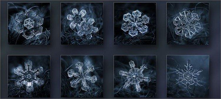 фотографии-снежинок