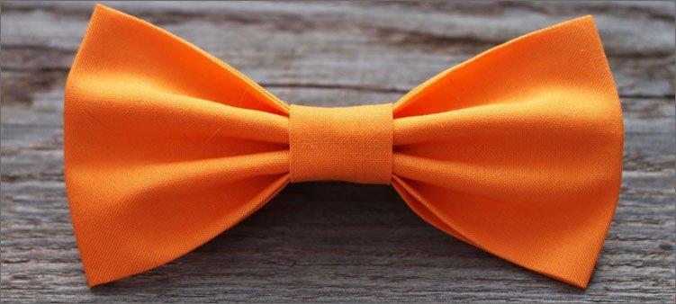 оранжевый-галстук-бабочка