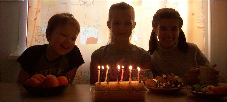 свечи-на-тортике