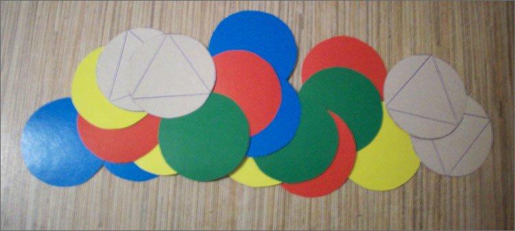 двадцать-кружков-из-цветного-картона