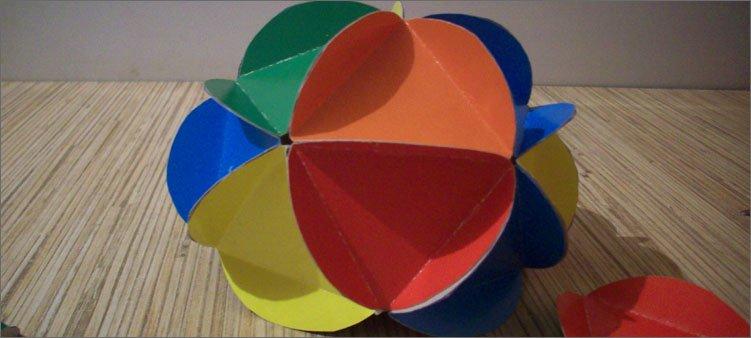 почти-готовый-шар-из-картона