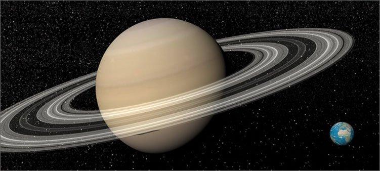 планеты-сатурн-и-земля