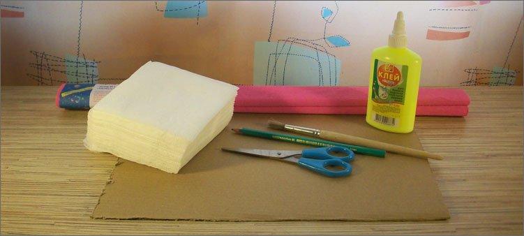 салфетки-картон-ножницы