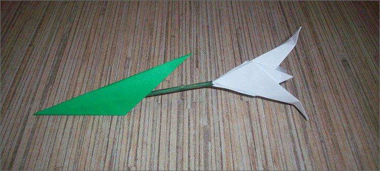 готовый-подснежник-оригами