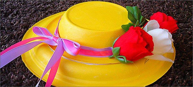 шляпка-из-тарелок