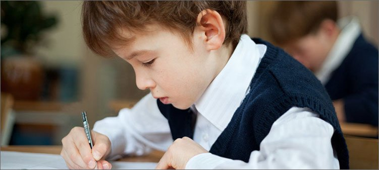 мальчик-пишет
