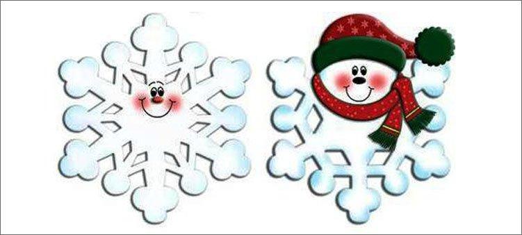 снежинки-с-рожицами