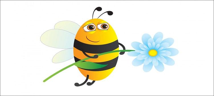 пчелка-с-цветочком