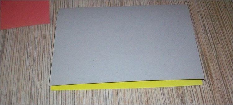 сгибаем-желтый-картон