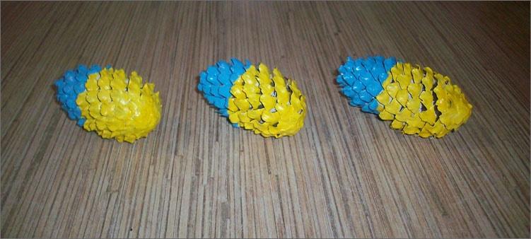 желто-голубые-шишки
