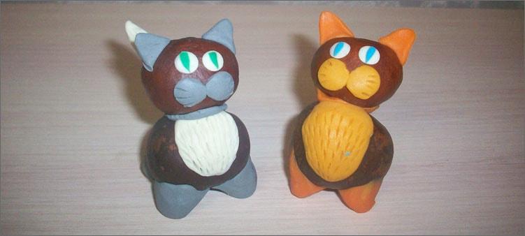 котята-из-каштанов-и-пластилина