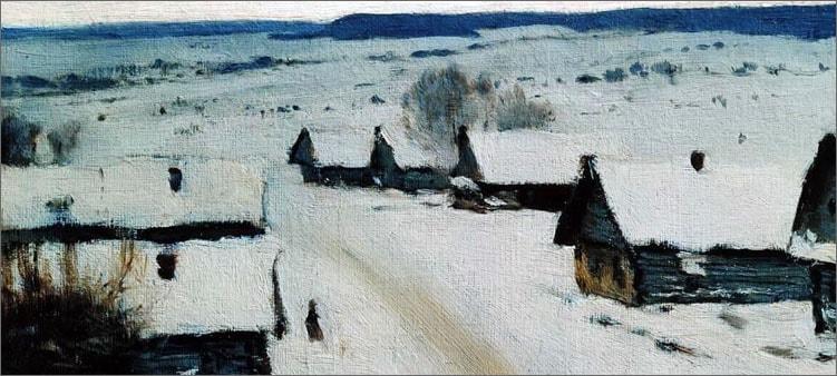 левитан-зима-деревня