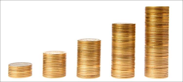 монеты-выложены-стопками