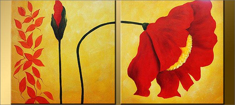 картина-диптих-красный-мак
