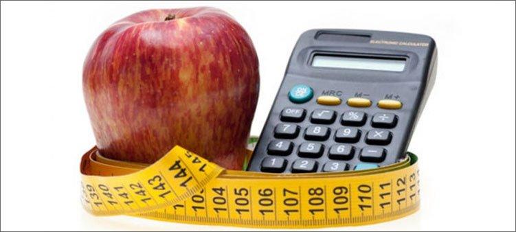 яблоко-калькулятор-и-сантиметровая-лента