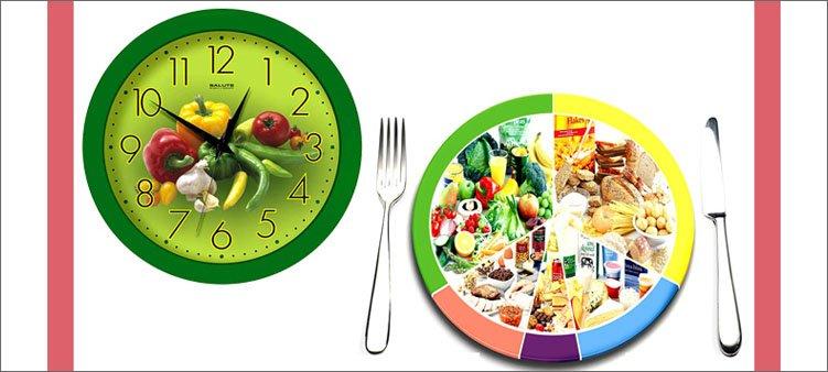 часы-и-тарелка-с-разной-едой