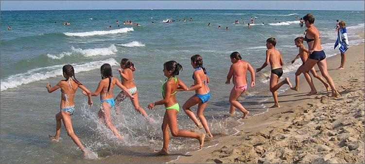дети-на-море