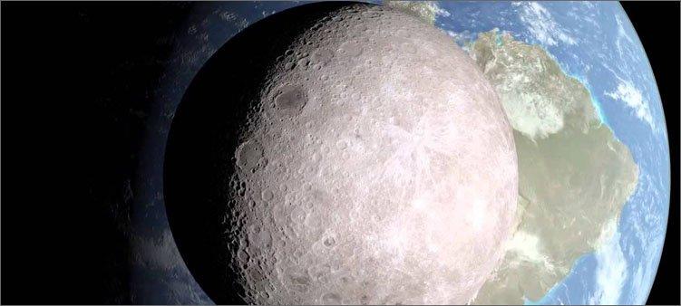 луна-на-фоне-земли-в-космосе