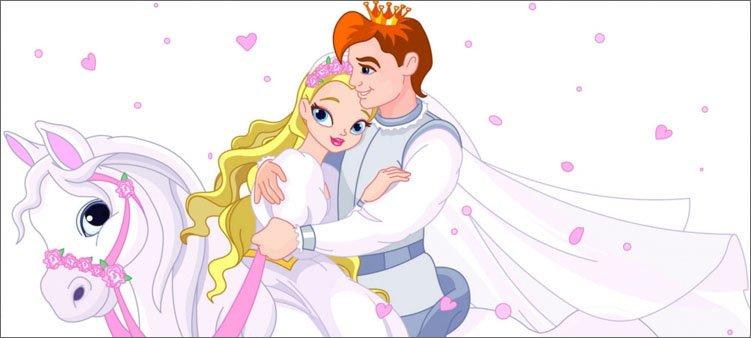 принц-и-принцесса-на-белом-коне