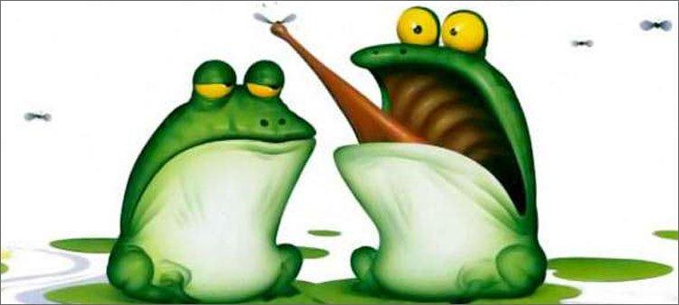 две-лягушки-лопают-комаров