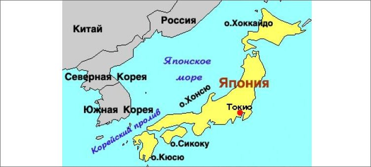 япония-на-карте