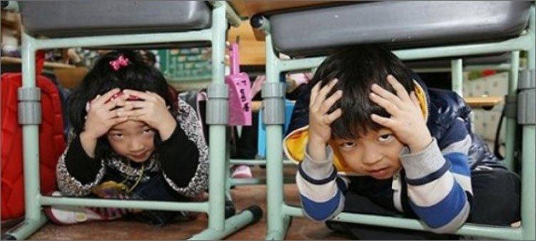 японские-дети-готовятся-к-землетрясению