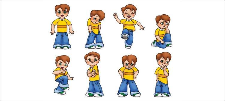 разные-позы-и-эмоции-мальчика