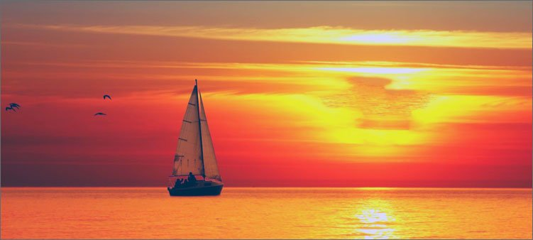 закат-на-море-парус