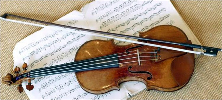 скрипка-смычок-и-ноты