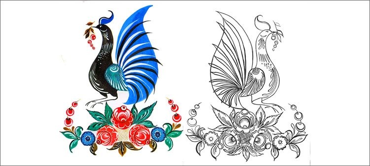 технология-рисования-городецкой-птицы
