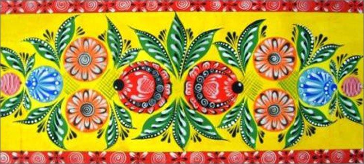 цветочная-тема-в-городецкой-росписи