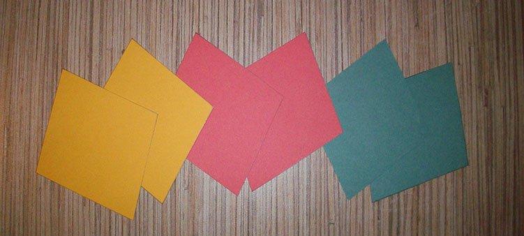 ромбы-из-цветного-картона